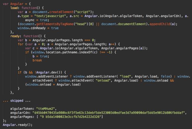 Fake angular code