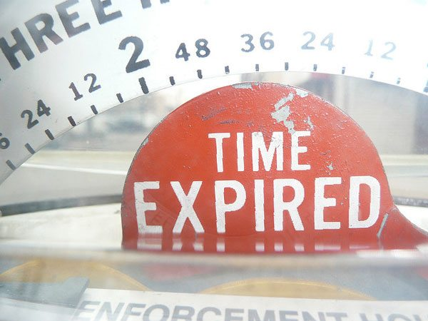 It is a sign in read that reads Time Expired google for nonprofits