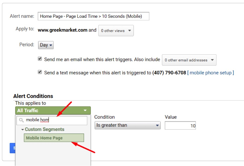 Apply the advanced segment to the Custom Alert. Save it, and the process is complete.