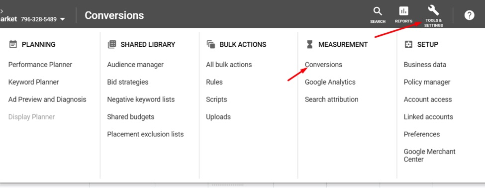 Identify the attribution model set up in Google Ads for conversions that use that conversion pixel at Tools  Settings  Conversions.
