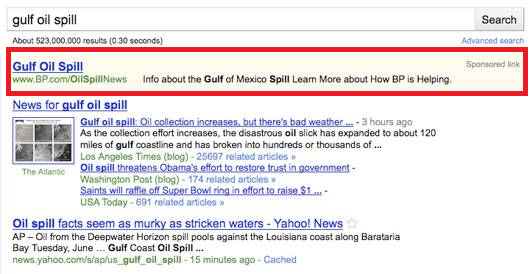 BP's PPC campaign on Gulf oil spill