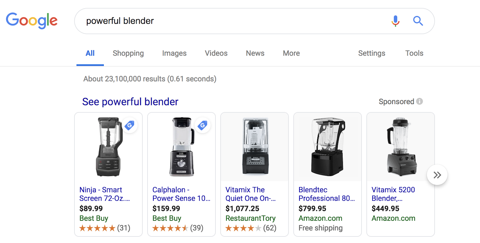 product listing ads for ecommerce