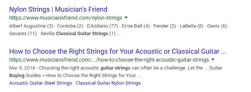 The content post from Musician's Friend of How to Choose to Right Strings for Your Acoustic or Classical Guitar is compelling.