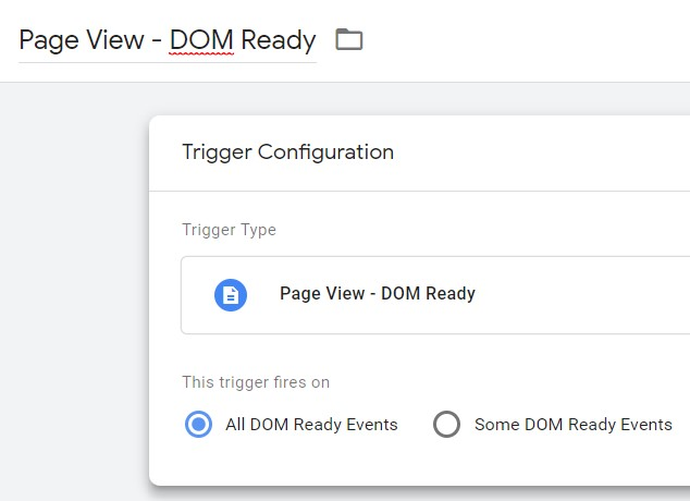 Setup for Page View — DOM ready.