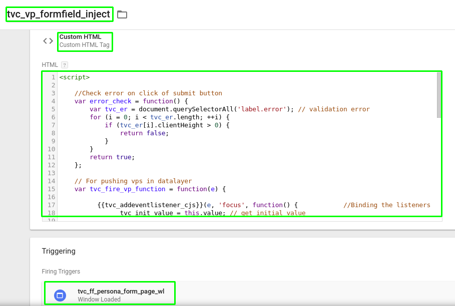Image 1: Custom HTML Tag with form field script